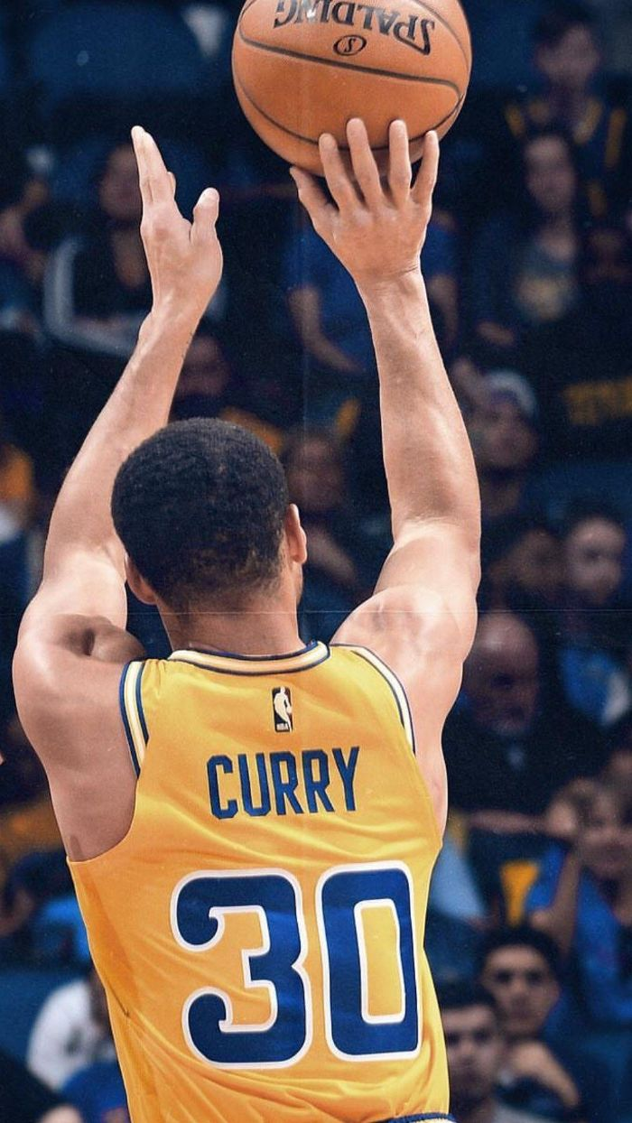 curry shooting a three wearing yellow warriors uniform stephen curry golden state warriors wallpaper
