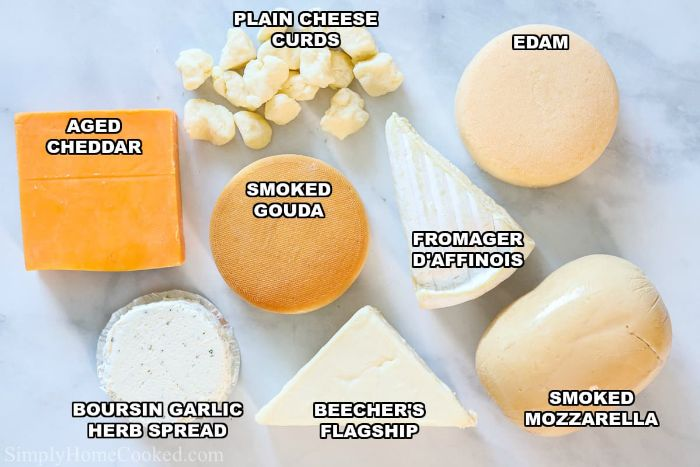 different types of cheese to use for cheese board ideas cheddar gouda edam mozzarella blue cheese