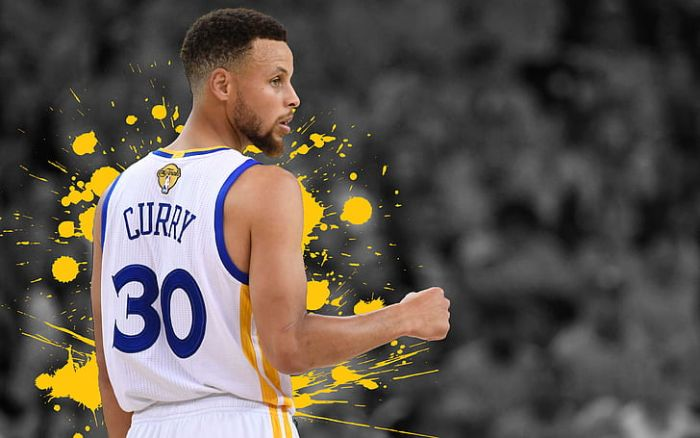 edit of steph curry wearing white uniform golden state warriors wallpaper black and white blurred background
