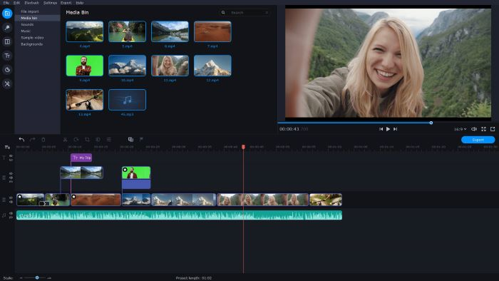 editing a video best video editing software screenshot of movavi