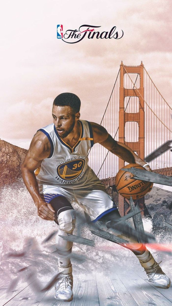 finals edit of steph dribbling the ball stephen curry wallpaper iphone golden gate bridge in the background