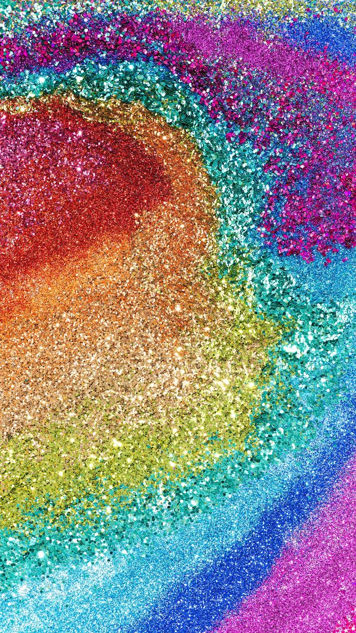glitter in the colors of the rainbow red orange yellow blue purple cute rainbow backgrounds