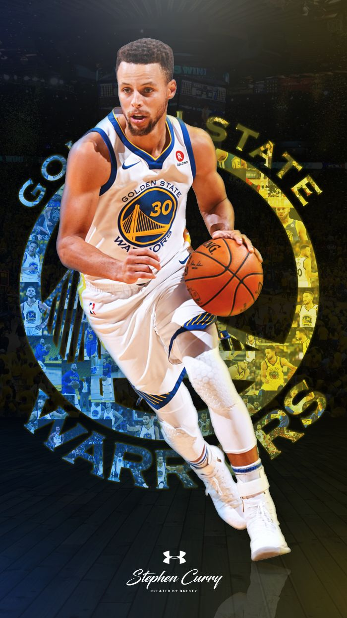 golden state warriors logo in the background stephen curry wallpaper iphone under armour logo under photo of steph