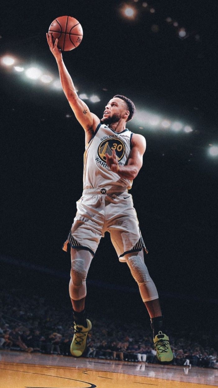 photo of steph laying up the ball stephen curry golden state warriors wallpaper wearing white warriors uniform