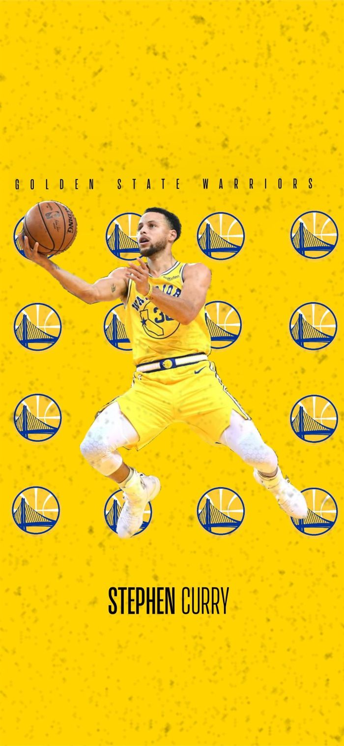 stephen curry golden state warriors wallpaper yellow background photo of steph warriors logos
