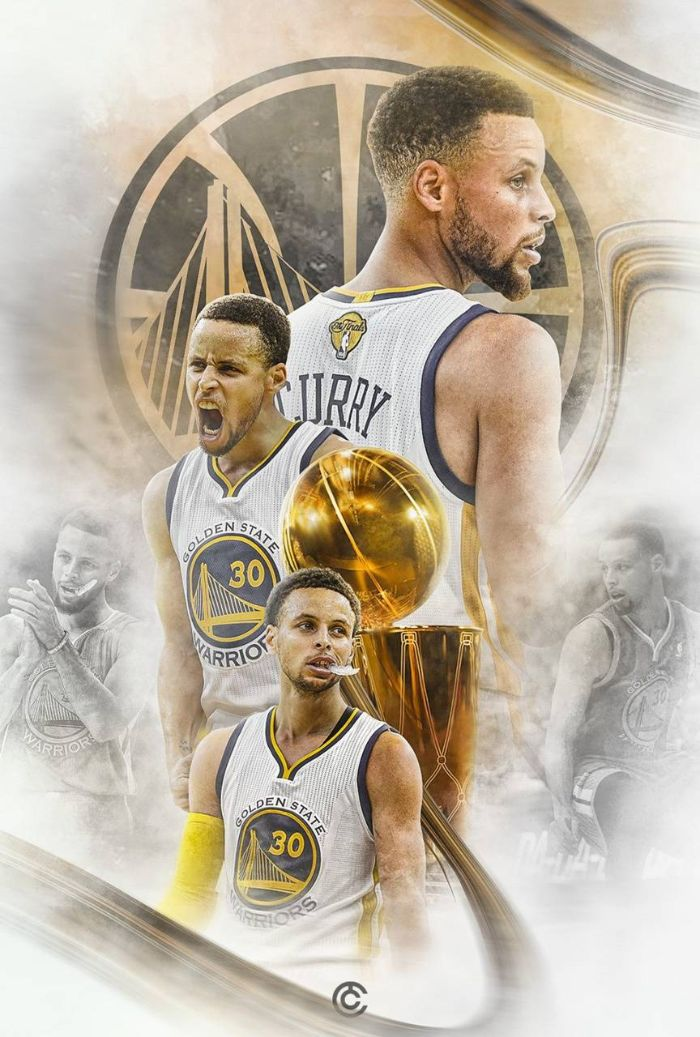 stephen curry wallpaper 2021 edit of photos of steph on the court larry o brien trophy warriors logo