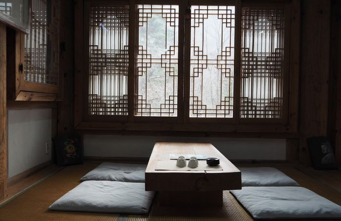 asian style tea room ideas to use in your interior low wooden table with cushions for seats
