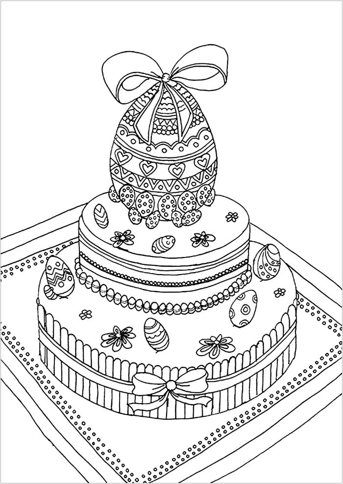 cake with an easter theme easter egg printable eggs on black and whtie drawing