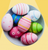 colorful eggs with floral patterns inside a bowl dying easter eggs pink green blue dye