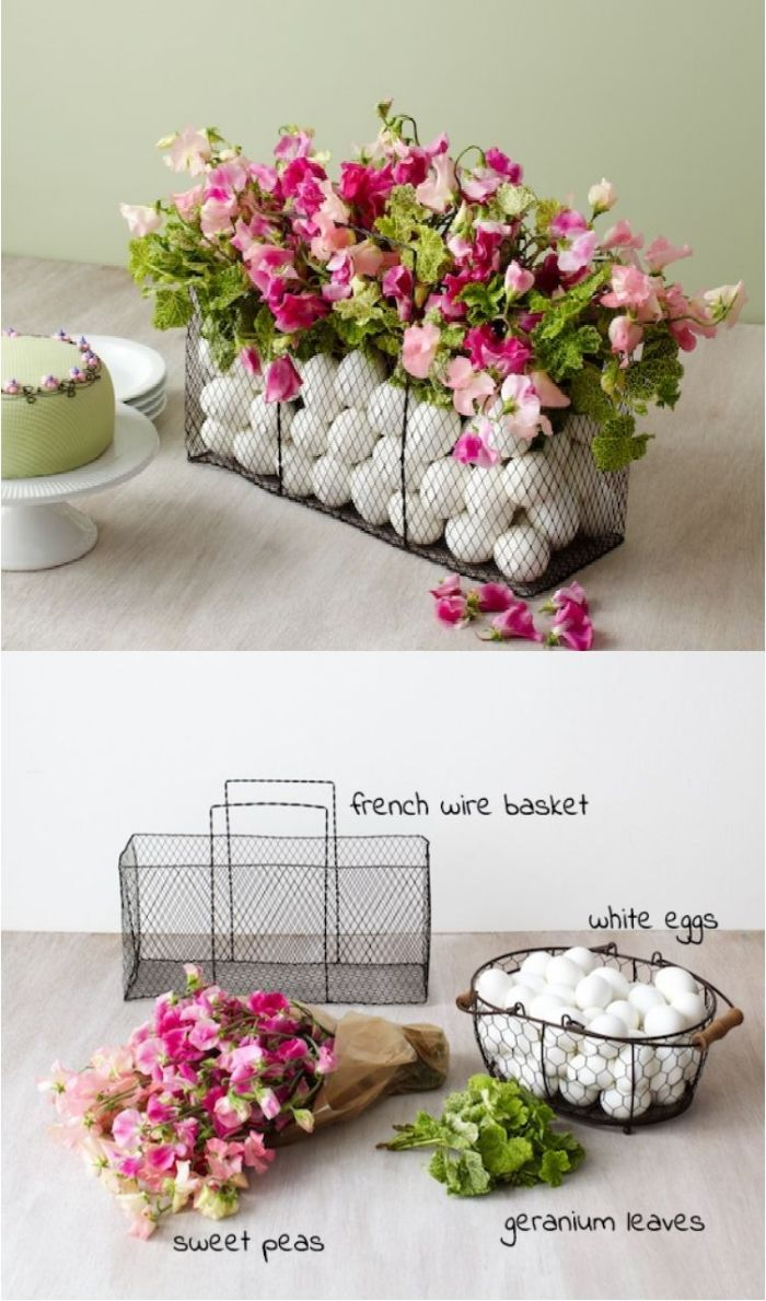 diy tutorial for centerpiece with white eggs and flowers easter crafts necessary supplies