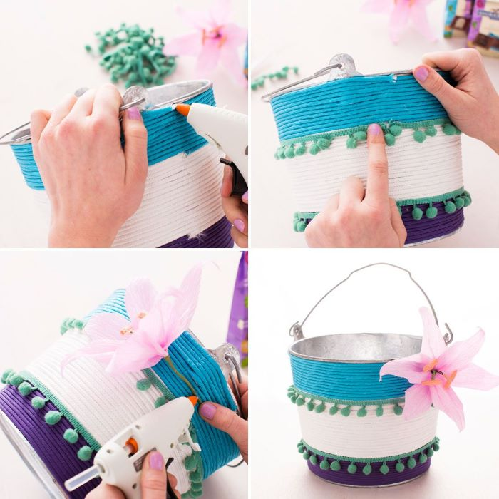 easter basket ideas for toddlers photo collage of step by step tutorial how basket with rope
