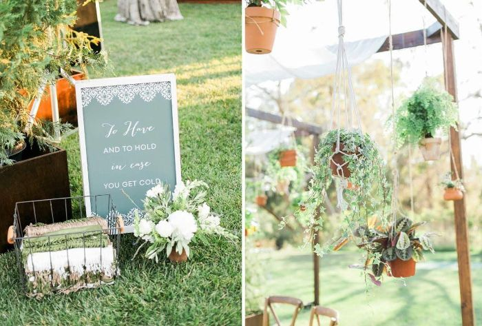 favors for wedding diy wedding ideas blankets for guests macrame planters hanging from the tent