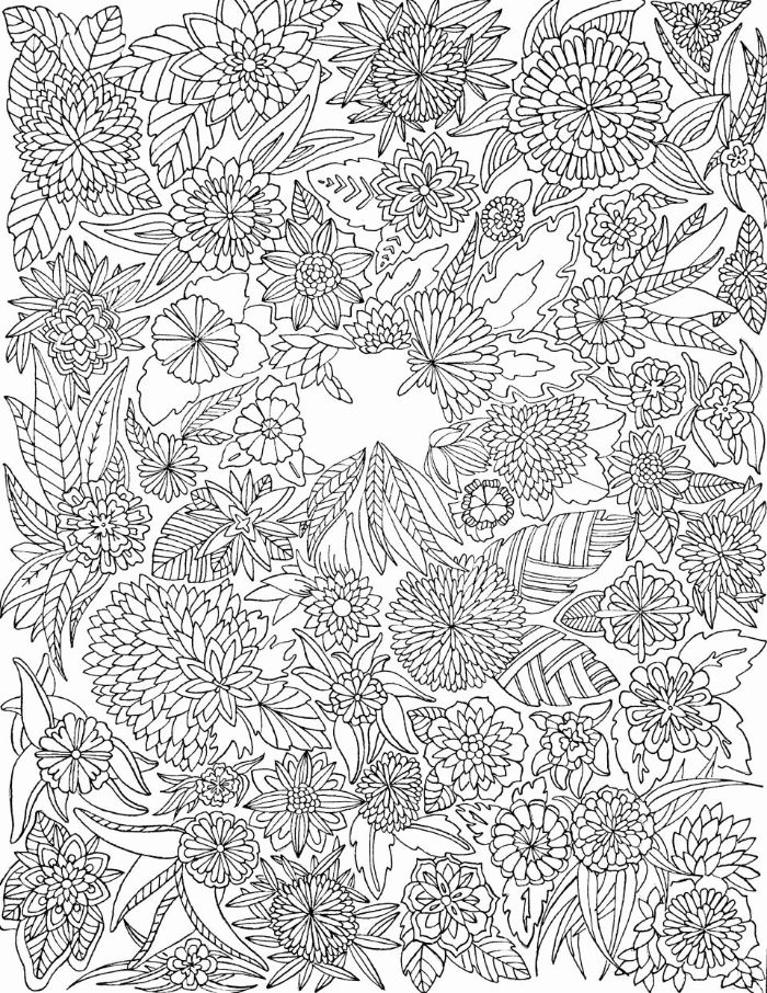 flower coloring pages for kids black and white drawing of different flowers on white background