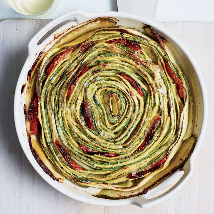 gratin with summer squash zucchini and tomatoes squash recipes baked in white casserole