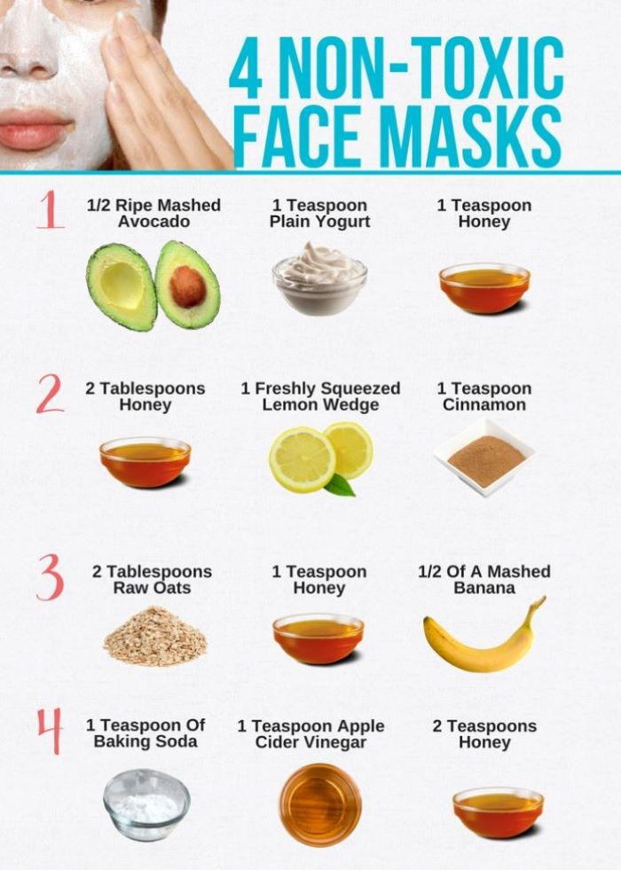 homemade face masks list of four different masks made with only three ingredients