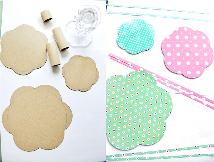 how to make stand out of carton easy easter crafts side by side photos of step by step diy tutorial
