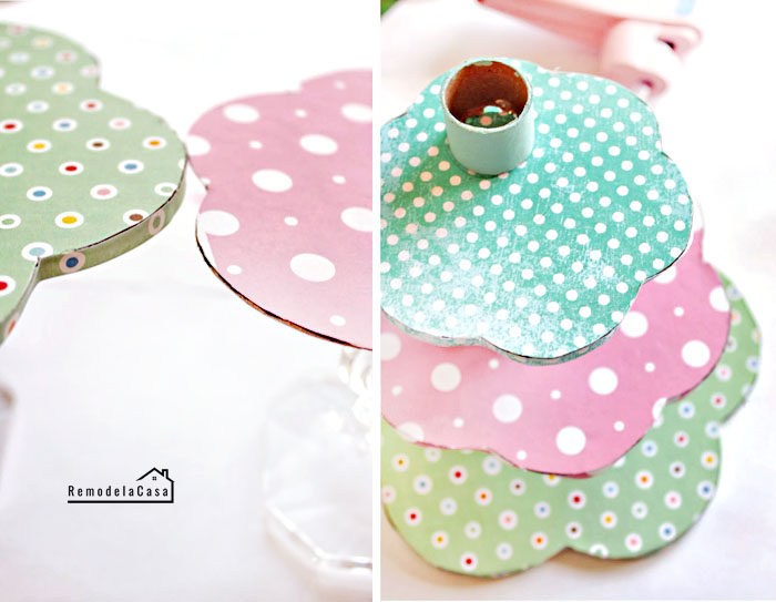 side by side photos of step by step diy tutorial outdoor easter decorations carton stand