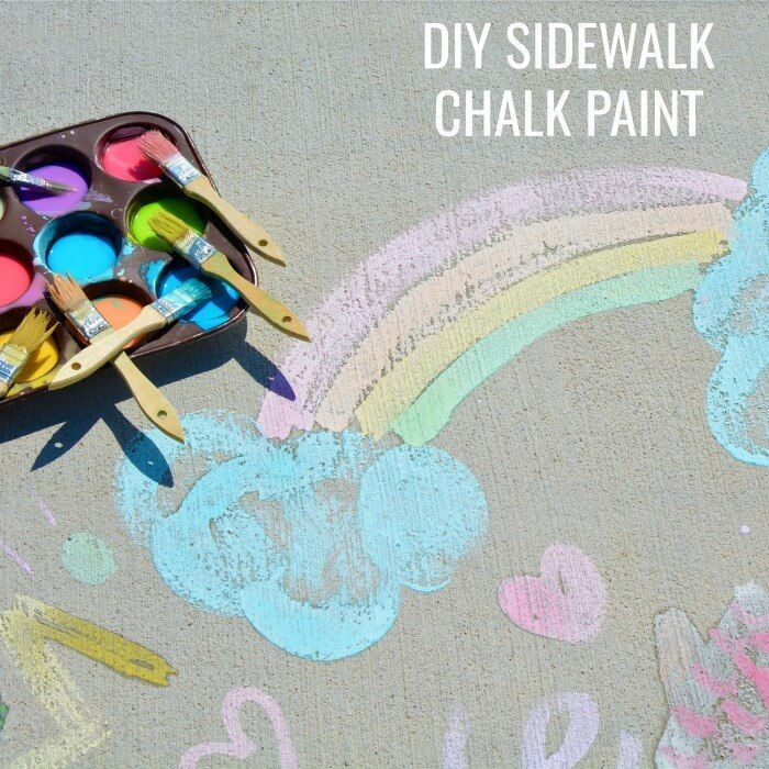 diy sidewalk chalk paint outdoor activities for kids muffin tin filled with paint and different paint brushes