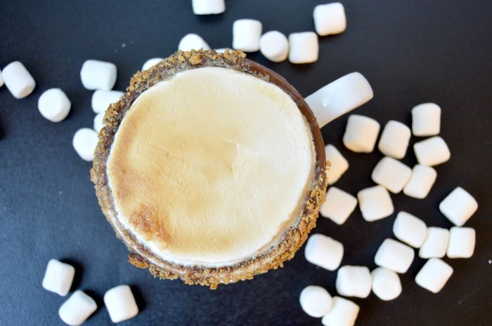how much ground coffee per cup marshmallows scattered around mug filled with toasted marshmallow latte