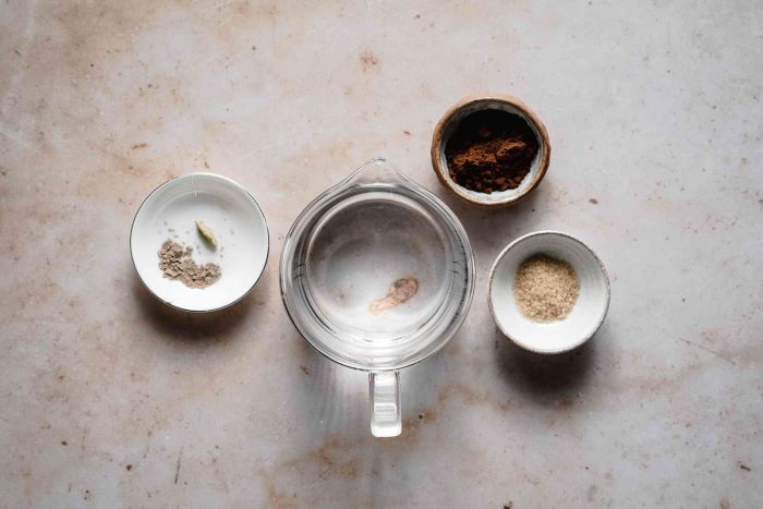 ingredients for turkish coffee recipe how to make coffee in a pot placed on granite surface