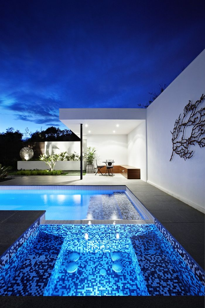 inground pool design large pool with jacuzzi area outside living room with garden furniture