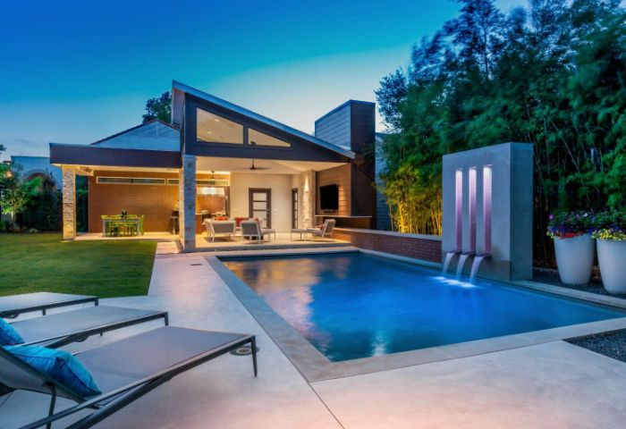 pool with fountain wall small inground pool cost lounge chairs and outside living room
