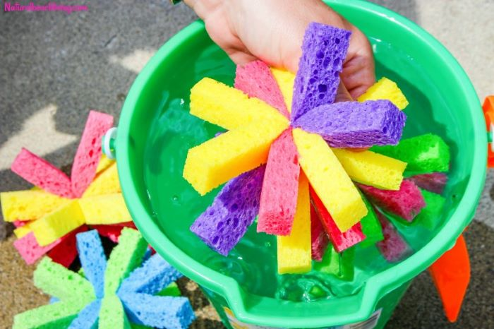 step by step diy tutorial what to do outside how to make sponge balls soaked in water