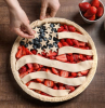 american pie 4th of july desserts pie filled with strawberries blueberries decorated as the american flag