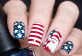 40+ Patriotic 4th Of July Nails In Red, White and Blue