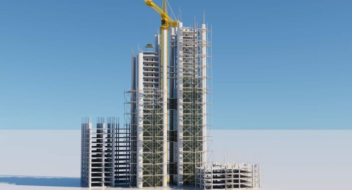 building construction side reality capture 3d rendered image digital drawing