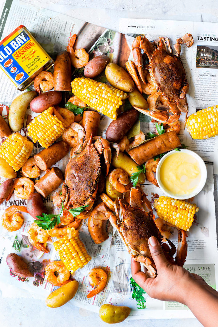 frogmore stew low country recipe seafood boil recipe with sausages corn on the cob shrimp crabs