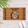 personalised doormat personalise your home johnsons family with photo of mom dad daughter