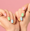 rainbow nails in pastel colors summer nail designs different color on each nail