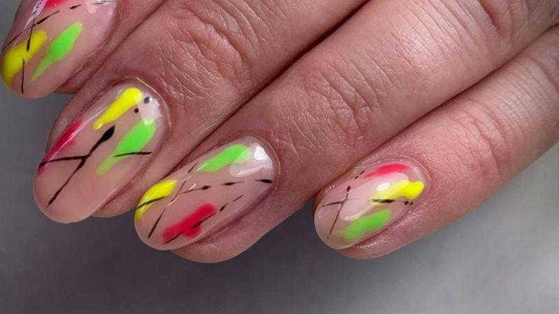 abstract nail colors for summer 2020 nail design