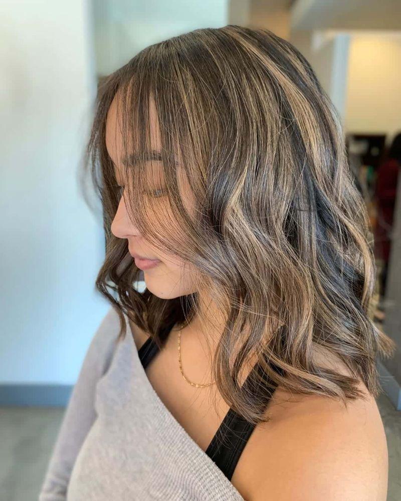 balayage wavy hair bob haircuts for women