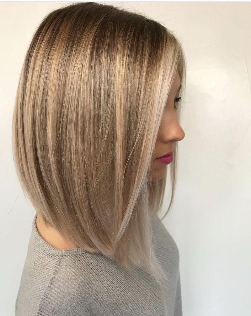 blonde assymetrical bob haircuts for women