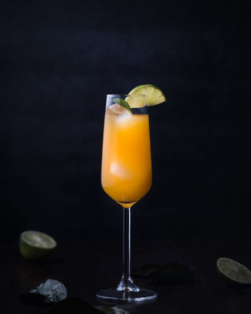 champagne glass best vodka drinks lime wedges