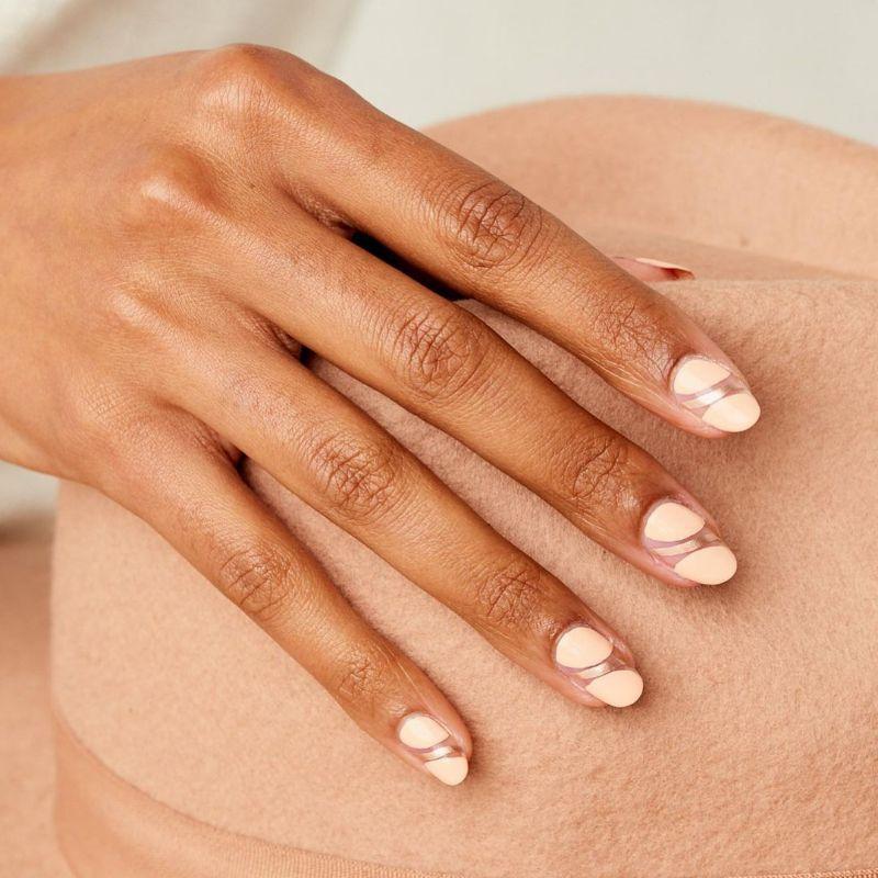 cute nail ideas negative space nails