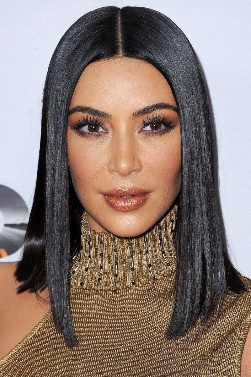 kim kardashian shoulder length short hair styles black hair