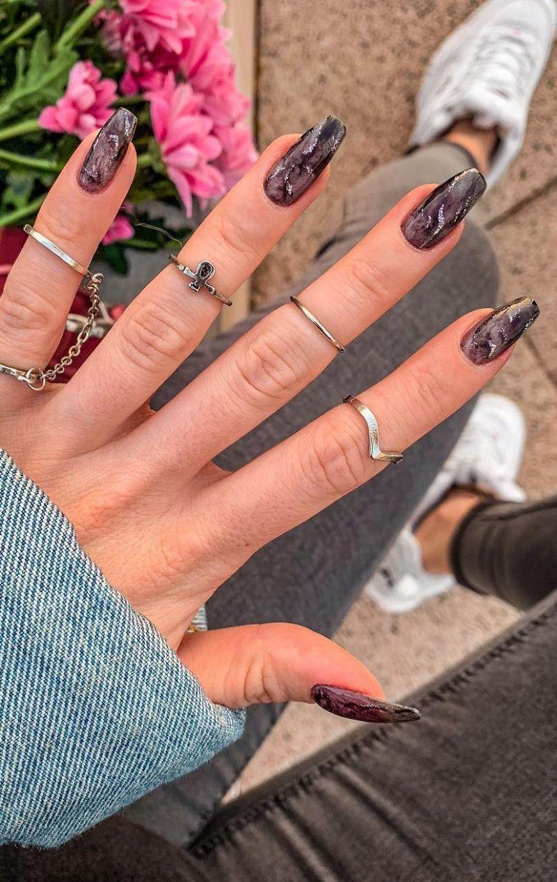 marble nails summer nail designs coffin nails