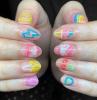 neon signs neon nail designs short nails
