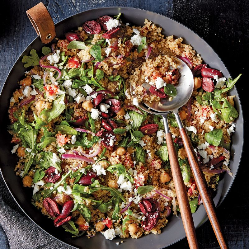 quinoa salad mediterranean diet meal plan olives
