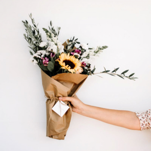 Send flowers to show someone you are thinking of them