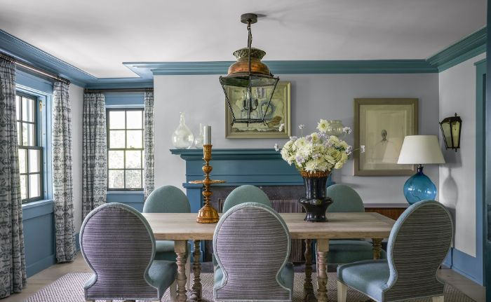table and chairs placed in front of fireplace farmhouse dining table vintage decor around the room