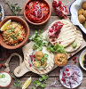 table with meals mediterranean diet breakfast