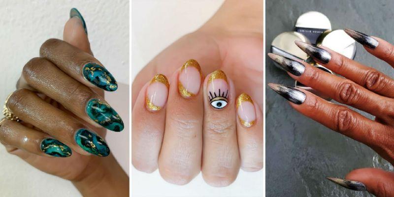 three cute nail ideas marble nails