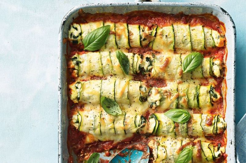 cannelloni baked zucchini recipes with basil