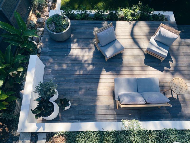 deck with garden furniture transform your backyard