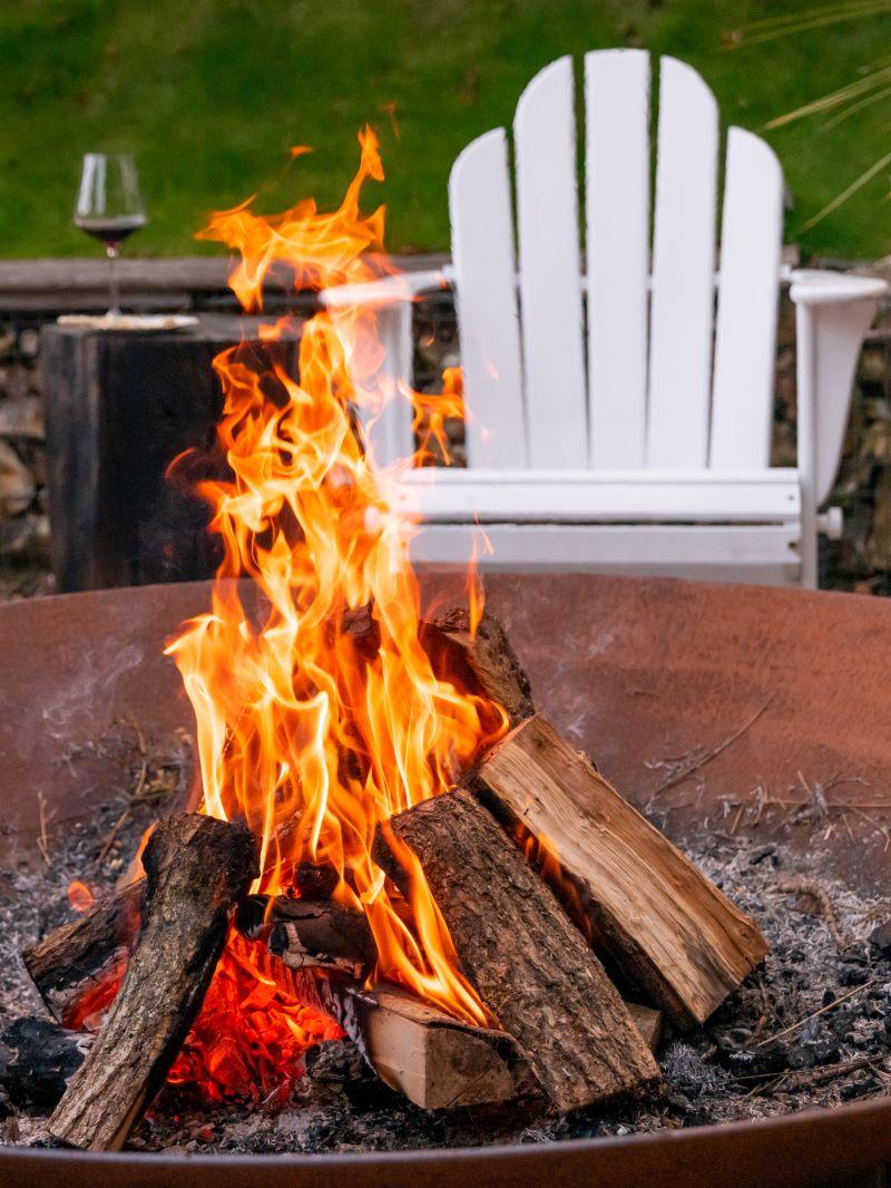 fire pit winter garden design ideas lounge chair