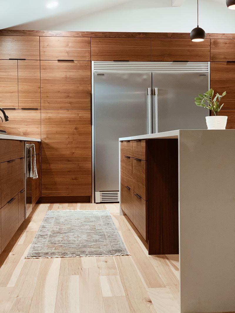 fridge kitchen island steel kitchen